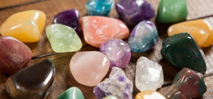 Limpieza de piedras y cristales
